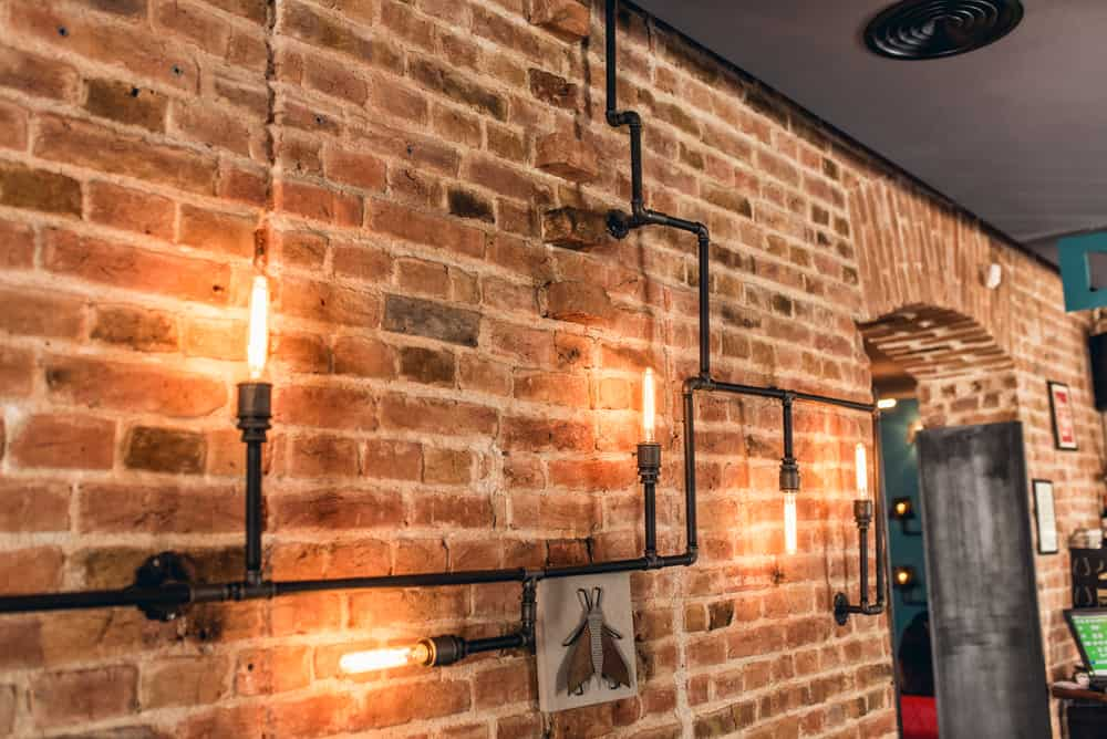 rustic pipe decor