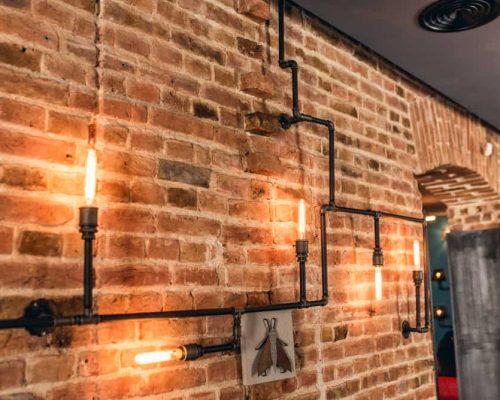 rustic pipe decor